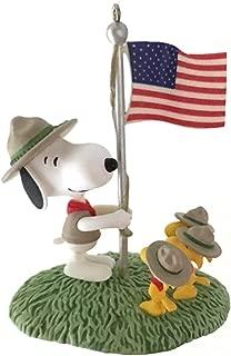 Hallmark Beagle Scout Salute Peanuts 2012 Ornament