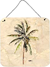 Caroline's Treasures 8482DS66 Tree-Palm Tree Aluminum Metal Wall or Door Hanging Prints, 6 x 6, Multicolor