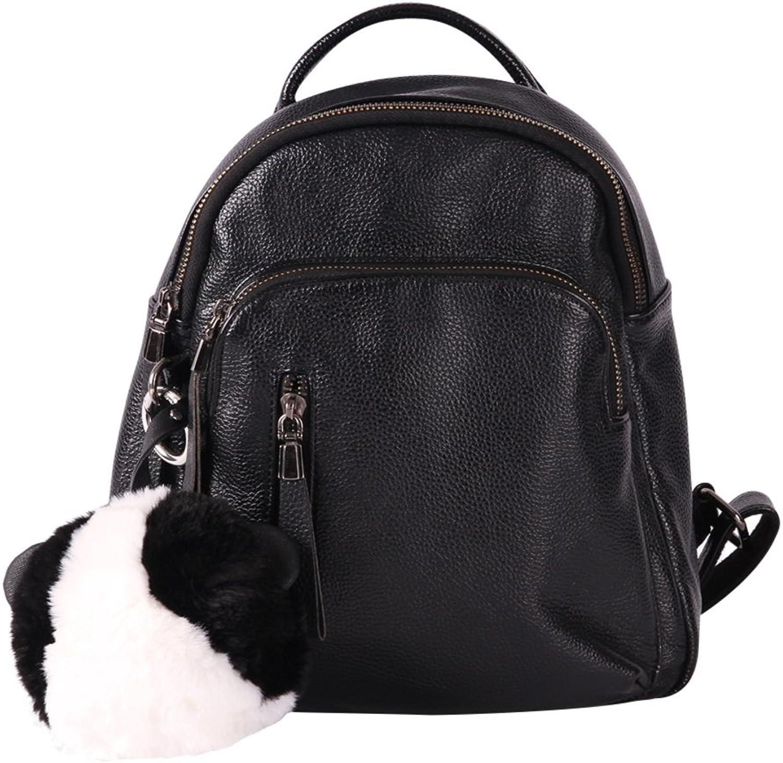 Animal Key Chain Accessories for Women, HZIC Big Ball Panda Bag Car Charm Pendant Decoration (Black, White)
