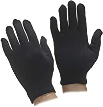 Starvin Men's Cotton Hand Summer Gloves for Protection from Sun Burn/Heat/Pollution (Black; Free Size); 1 Pair