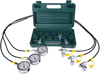 Delaman Hydraulic Tester Hydraulic Pressure Test Kit for Excavators with Test Hose Coupling and Manometer