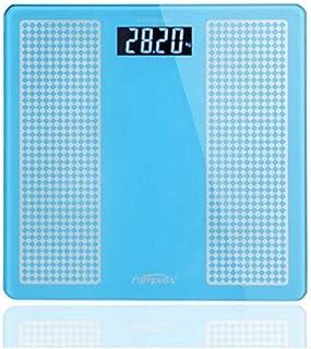 Báscula de Peso electrónica Salud para Adultos Báscula de Peso del hogar Medición precisa Báscula de Peso Inteligente Humana Báscula de baño 30CM 180KG Durable (Color: Azul Cielo)