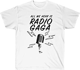 Radio GA GA Graphic Art T Shirt, Rock Band Tee, Queen Band Shirt, 80's Rocker Clothing, Queen Band Music T Shirt Unisex, Music Lover Gift For Men For Women