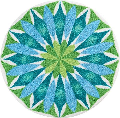Grund Designer Series Accent/Bath Rug, Sunrise, 32-Inch buy 32-inch, Light Blue/Green