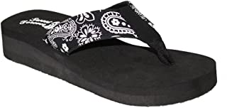 Ladies Bandana Paisley Print Sandal