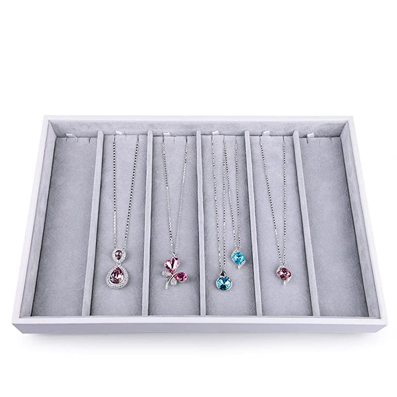Oirlv Velvet Stackable Jewelry Tray Necklace Pendant Organizer Display Showcase Jewelry Storage Trays