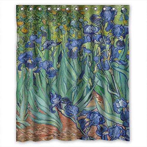 PILZOO Saine Rideau de Douche Polyester Peinture d'art, Vincent Willem Van Gogh 1889, Format, Largeur x hauteur/152,4 x 182,9 cm/L H 150 par 180 cm Home Fashion, Meilleure Adaptation pour Famille