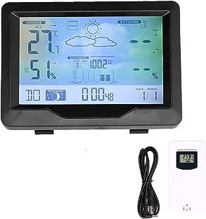 Trådlös väderklocka, lätt att läsa Visa datum väckarklocka för inomhus för utomhusbruk