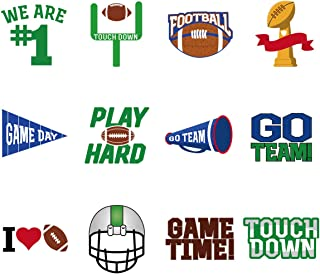 Amosfun Super Bowl Face Tattoos Stickers Soccer Sports Body Stickers Football Party Supplies, Pack of 72