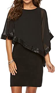 Sugar Alice Women's Waist Backless Sling Summer Party Dress (black1, M)