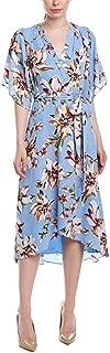 Tahari by ASL Women's Printed Georgette Tie Wrap Dress w/High-Low Hemline