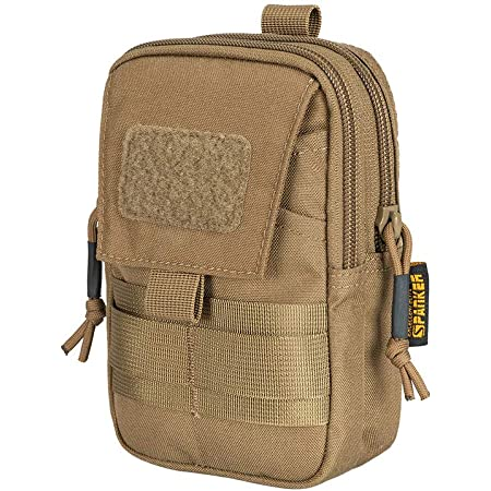 2x Utility Molle Pouch Edc Gadget Pocket Tactical Hanging Belt Waist Bag Black