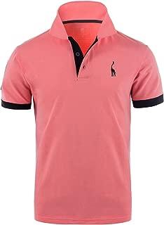 GLESTORE Men's Polo Shirts Golf Sports T-Shirt