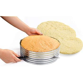 Anello taglia torte regolabile in acciaio inox per pan di spagna a strati KAMIUSTORE
