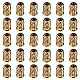 Tucireat Ferramenta per Legno 20 Pezzi Boccole Filettate per Legno Inserti Filettati per Legno M8 Boccola Filettata Inserto Filettato Bulloni M8 Viti Autofilettanti per Metallo Esagono