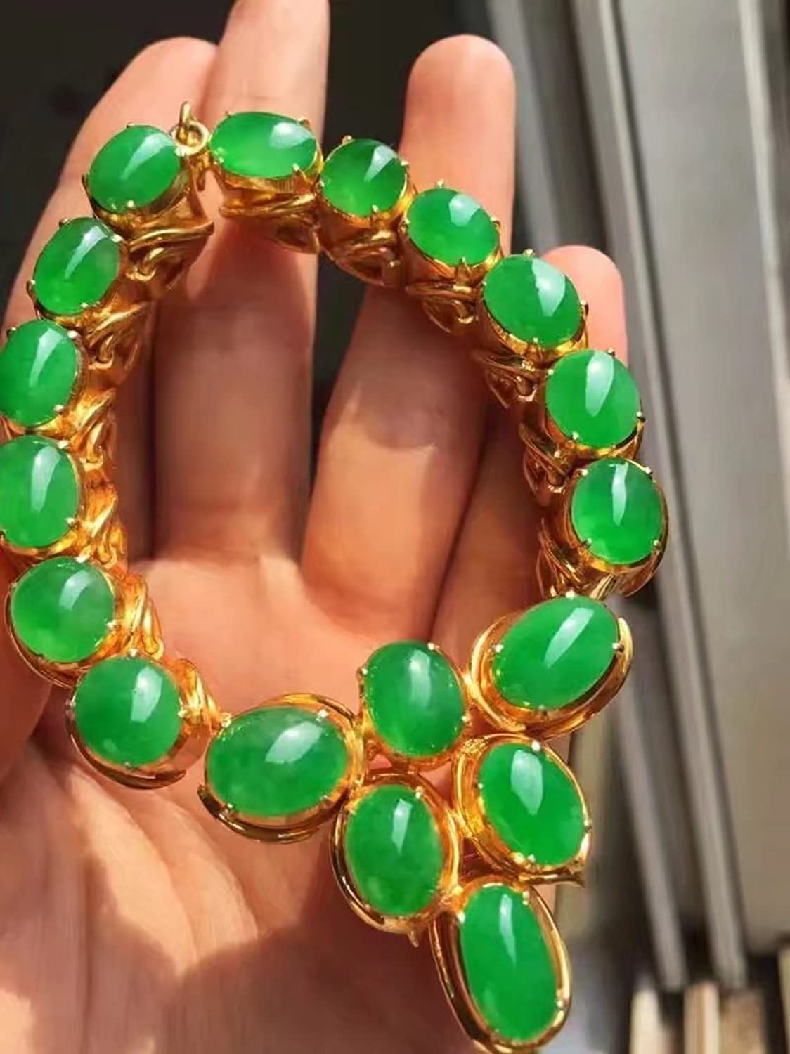 Myanmar Jade Old r Jade Ring Women Girls Natural ice Kinds Goods Bracelets Necklace Pendant Earrings Sun Green