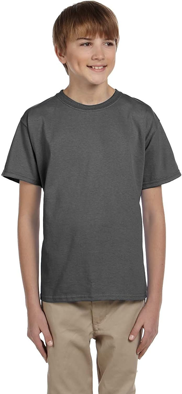 By Hanes Youth 52 Oz, 50/50 EcoSmart T-Shirt - Smoke Gray - L - (Style # 5370 - Original Label)