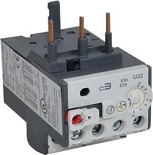 c3controls 320-B2U15 Bimetallic Overload Relay, Trip Class 10, Current Adjustment Range: 10 - 15A