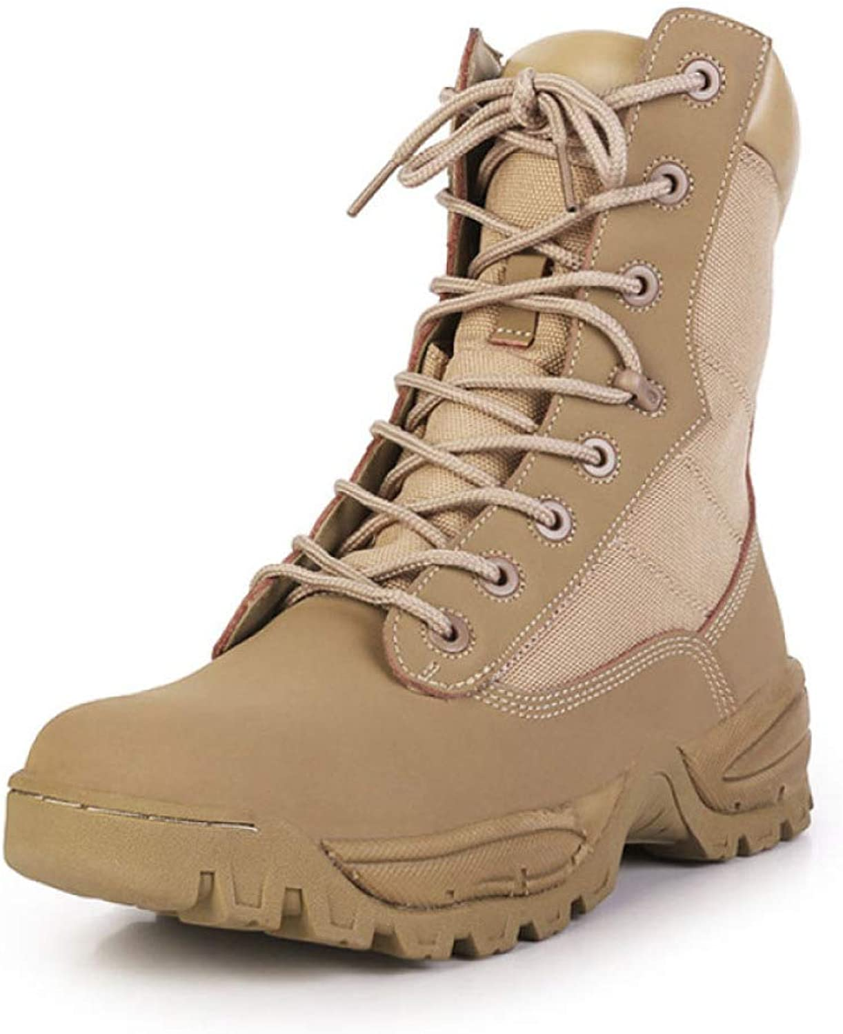 YC Desert Boots Ultralight Combat Boots Canvas Breathable High Tops Training Boots For Mens Leather Camping Hiking Special Boots