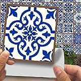 CACAIMAO Pegatinas De Azulejos De Patrón Retro De Simulación, Pegatinas De Suelo Gruesas Resistentes Al Desgaste, Pegatinas De Pared Decorativas De Mosaico 20 Piezas 15cm*15cm