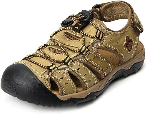 FEI Sandales Sandales de Marche en Plein air pour Hommes Close Toe Strap Trekking chaussures Antidérapant (Couleur   C, Taille   EU38 UK5.5 CN38)