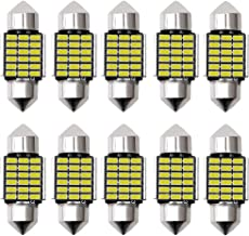 NAKOBO 爆光 10個 T10 x 31mm 18連3014チップ 車ランプled 電球色 ルームランプ ポジションランプ 12V 車検対応 無極性 一年保証/ホワイト(10個入り)