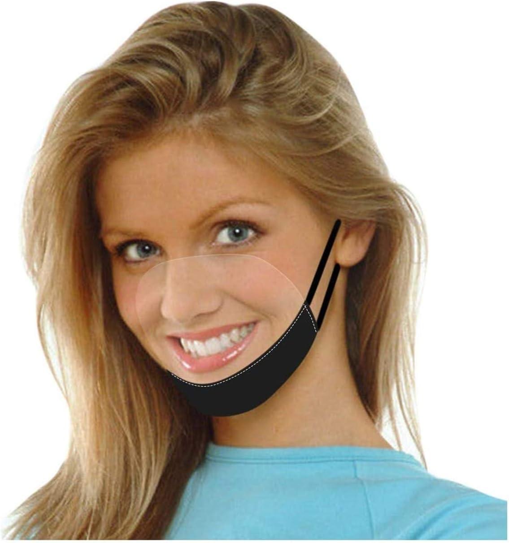 Visera Protectora Transparente Visera de plástico para protección Facial protección Ocular protección para escupir protección Facial Transparente Abierta protección Facial de Seguridad(Negro)