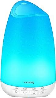 comprar comparacion Victsing Mini Humidificador Aromaterapia,150 ML Difusor de Aceites Esenciales de Vapor Frío, 7-Color LED, Hogar, Oficina,B...