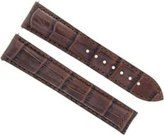 20MM LEATHER BAND STRAP DEPLOYMENT BUCKLE CLASP FOR OMEGA SPEEDMASTER DARK BROWN