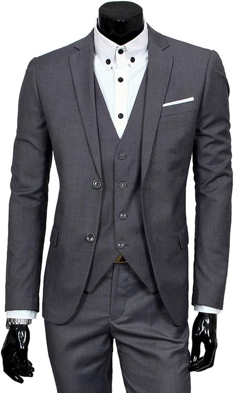 Meaningg Herrenanzüge Mit Hosen Herrenbekleidung Set Herren Slim Suit 2019 kostüm Homme Twedding anzüge für mnner (Jacke + Hose)