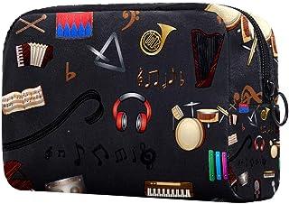 Music Makeup Bag Toiletry Bag for Women Skincare Cosmetic Handy Pouch Zipper Handbag
