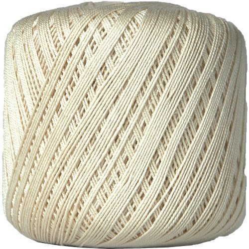 Threadart 100% Pure Cotton Crochet Thread - Size 10 - Color 2 - NATURAL -2 sizes 27 colors available