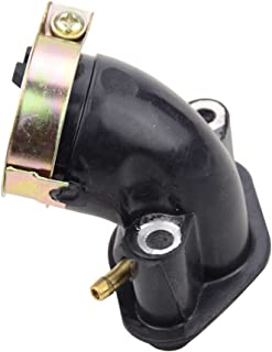 GOOFIT 90 degr/¨/¦s tuyau dadmission de courbure pour 49cc GY6 50cc Scooter Mobylette ATV conteneur SUNL Taotao Vento TNG