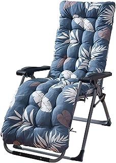 kexinda Al Aire Libre Tumbona Hojas Cushion Imprimir Espesar jardín Patio reclinable Silla de Mimbre Almohadilla del Asiento