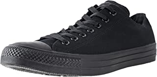Converse Men's All Star Chuck Taylor Lo Top Oxfords Black Mono 4.5 D(M) US