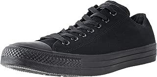 Converse M5039: Chuck Taylor All Star Low Top Black Mono Unisex Sneaker, Black/Black, 12 Women/10 Men