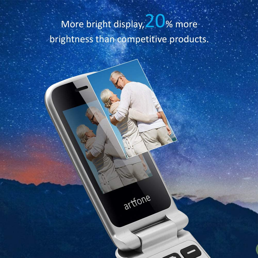 Buy Artfone 3g 2g Unlocked Senior Flip Cell Phone Senior Phone With Charging Cradle And Large Screen For Elderly Compatibility Nationwide On At T Or Any Other Carrier That Use At T Network Online In Vietnam B08lgtp49h