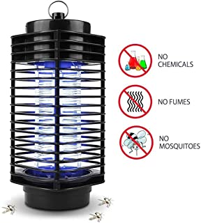 Muhoop Electronic Bug Zapper Mosquito Killer Lamp Insect Killer Light Fly Trap Moth Catcher Portable Standing or Hanging for Indoor and Outdoor Use