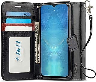J&D Compatible para OnePlus 6T Funda, [Protección de Cartera] [Soporte Plegable] Funda Pesada Resistentes Billetera para OnePlus 6T Funda Cuero - Negro