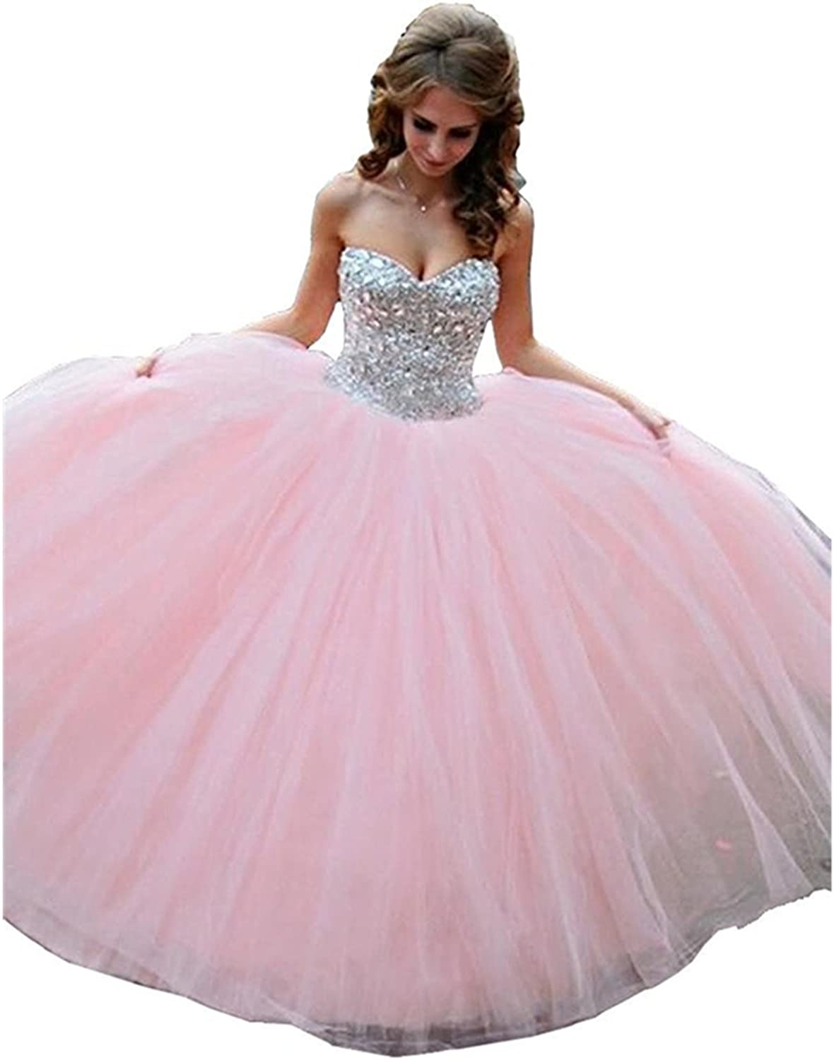 BEALEGAN Lady Women's Beaded Sweetheart Ball Gown Prom Quinceanera Dresses