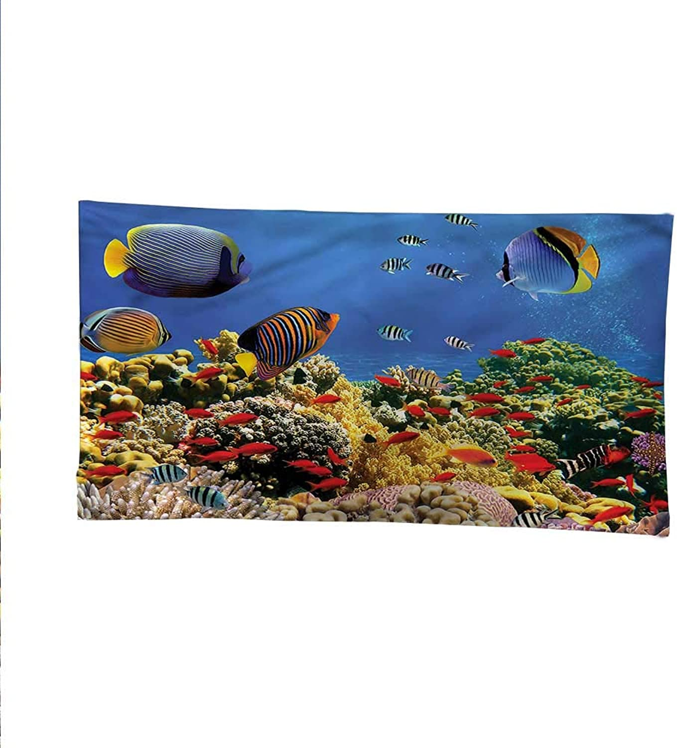 Oceantapestrywall tapestrySubmerged Coral Reef Colony 91W x 60L Inch