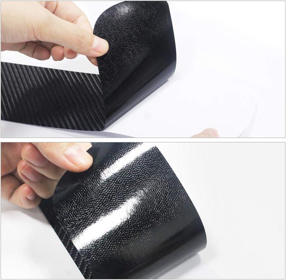 AQNPYR Autot/ürschwellen./F/ür Citroen C3 T/ürschwelle Abnutzungsplatte T/ür 4D Kohlefaser Vinyl Design Aufkleber Interieur Autozubeh/ör 4St