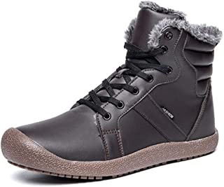F1rst Rate Men Winter Snow Boots Fur Lined Outdoor Waterproof Ankle Fashion Shoes