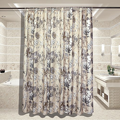 Plants shower curtains for bathroom,Thicken Polyester Bathroom Waterproof mildew bath curtain Bathroom curtains Curtain Partition curtains-B 180x190cm(71x75inch)