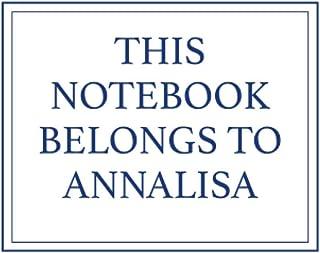 This Notebook Belongs to Annalisa