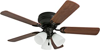 Prominence Home 50864 Whitley Hugger Ceiling Fan with 3 Light Fixture, 42