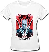 QMY Women's 2015 Hitman Agent 47 T-shirts White