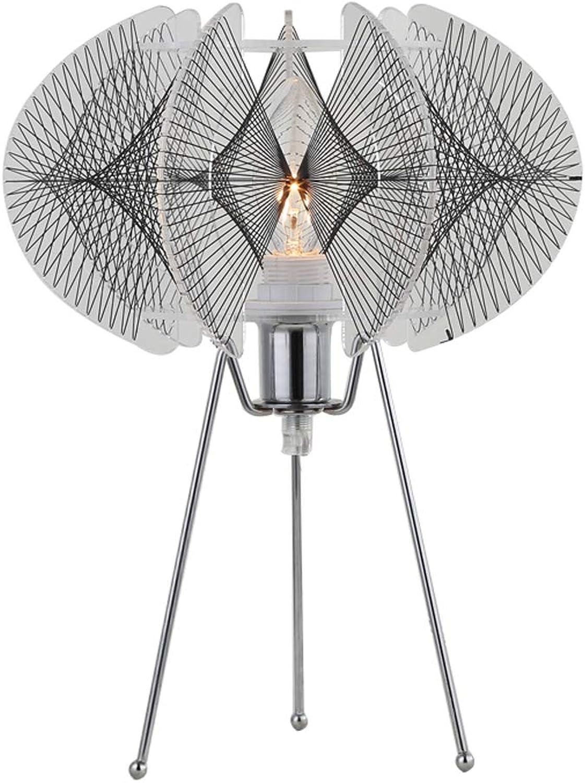 LED Schmiedeeisen Tischlampe Kreative Fischernetz Schreibtischlampe Moderne energiesparende Bettlampe Personalisierte Dekorative Tischlampe (Farbe   schwarz)