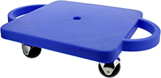 Get Out! Plastic Scooter Board with Handles (Wide), 12in x 12in – Manual Scooter Board Gym Scooter Boards for Kids