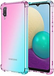 EasyLifeGo for Samsung Galaxy A02 / Samsung Galaxy M02 Case Slim Shock Absorption Flexible TPU Soft Edge Bumper with Reinf...